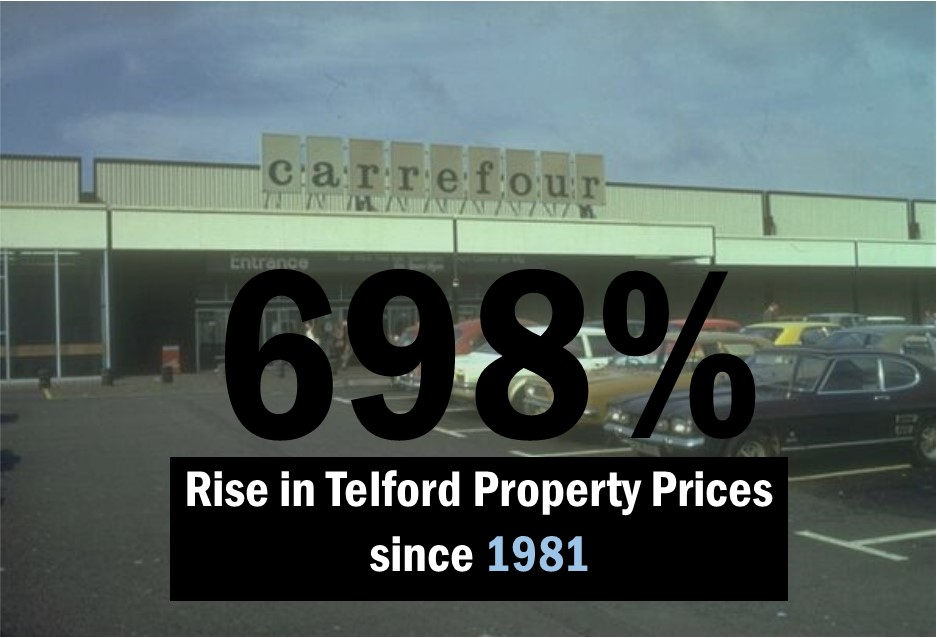 698% – Rise in Telford Property Prices since 1981