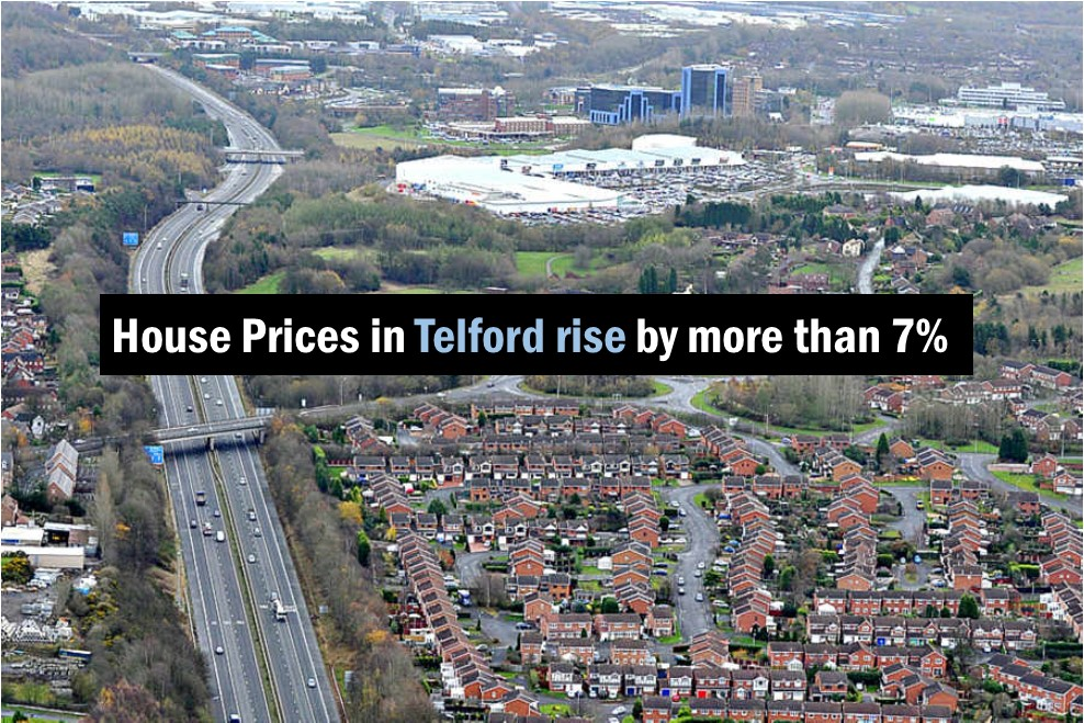 House Prices in Telford rise by more than 7% in the last 18 months