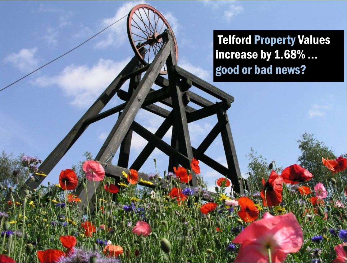 Telford Property Values increase by 1.68% … good or bad news?
