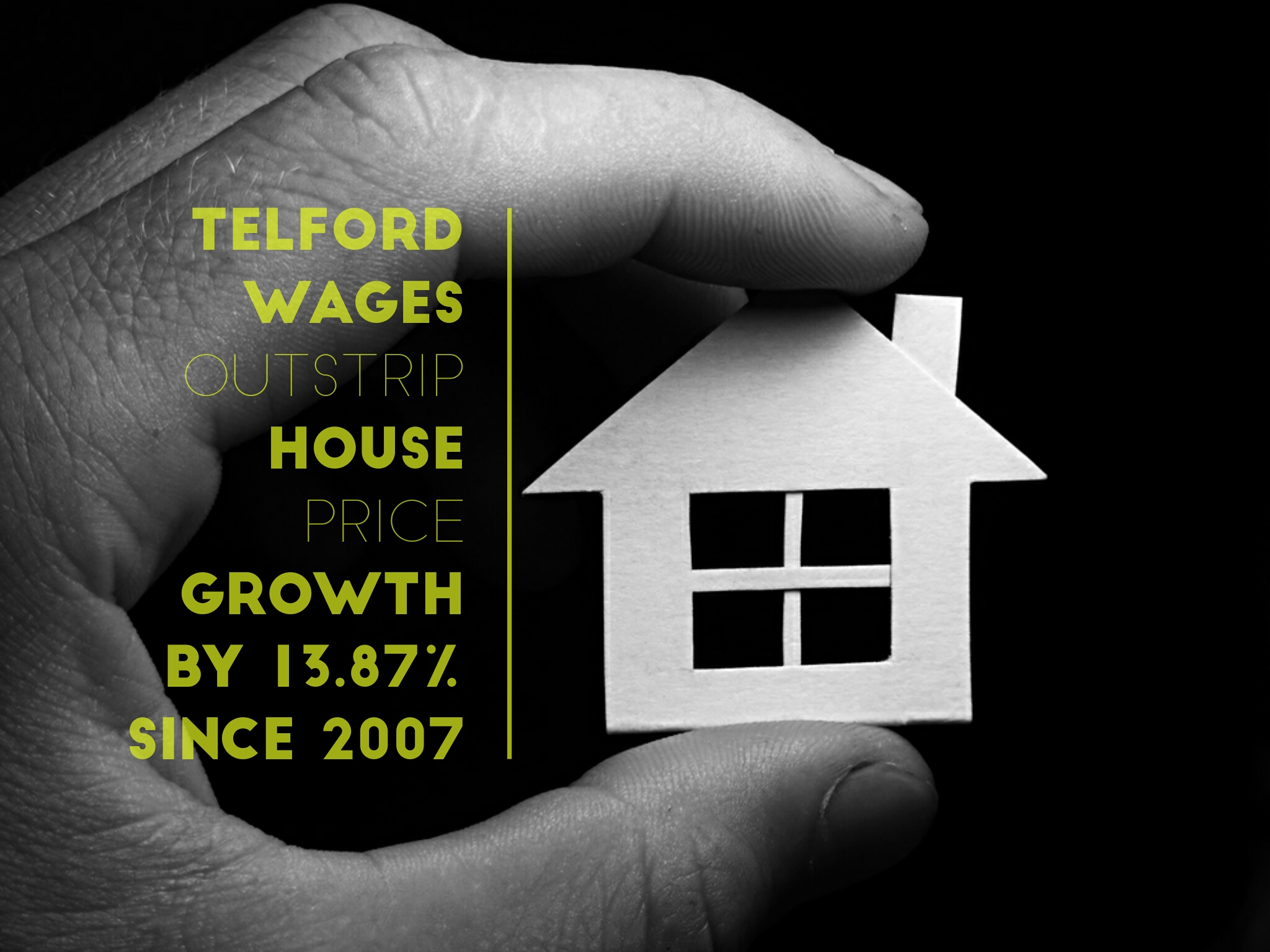 Telford Wages Outstrip House Price Growth by 13.87% since 2007